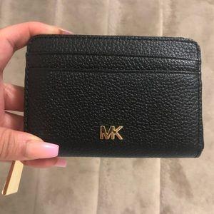 Money Pieces Zip Around Leather Coin & Card Case
